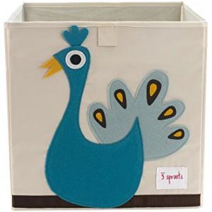"""Коробка для хранения игрушек """"Павлин"""" 3 Sprouts"""