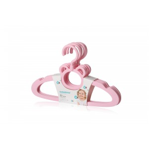 Вешалка детская, розовая Babyhood BH-724