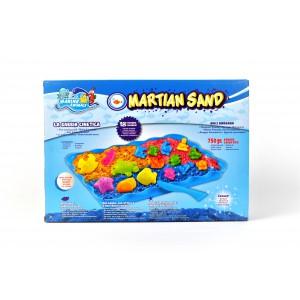 """Кинетический песок c формочками Martian Sand """"Морской мир"""" 750 гр."""