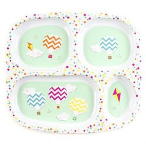 """Меламиновая тарелка с секторами Bumkins """"Воздушные шары"""""""