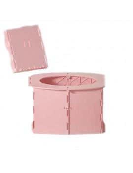 Детский дорожный складной горшок, розовый