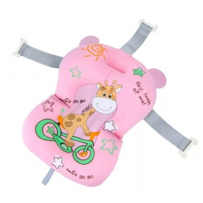 Горка натяжная для купания Жираф, розовая - Babyhood