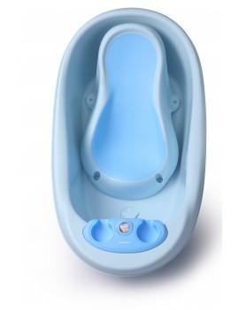Ванночка с термометром Дельфин, голубая Babyhood