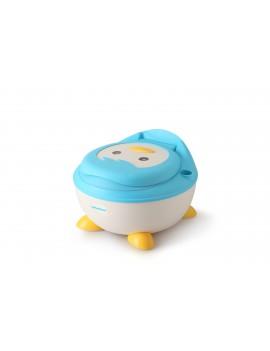 Детский горшок Пингвин с полиуретановым кольцом, голубой Babyhood BH-113