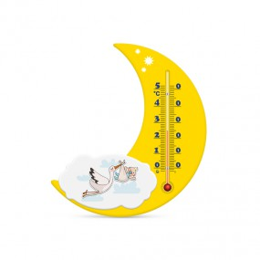 Термометр комнатный на пластиковом основании Месяц П-17, Аист желтый