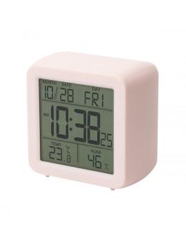Цифровой термо-гигрометр Т-15, розовый