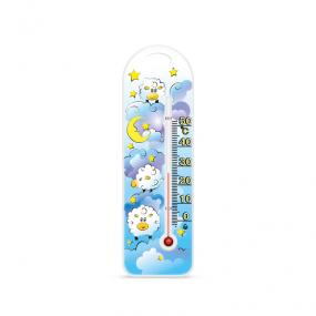Термометр комнатный на пластиковом основании П-15, овечки
