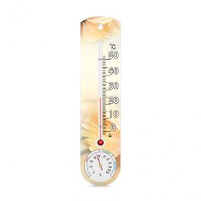 Термогигрометр комнатный на пластиком основании ТГК-1, гербера